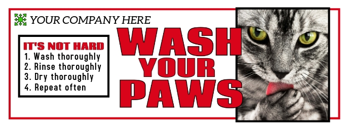 Wash Your Hands Facebook Cover template