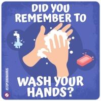 WASH YOUR HANDS INSTAGRAM BANNER template