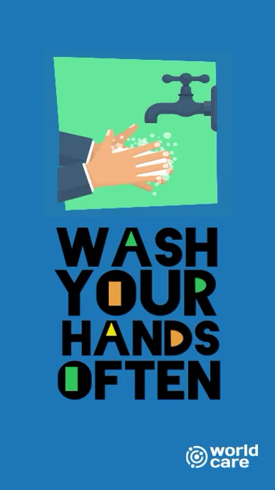 Wash Your Hands instagram story video template
