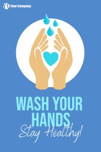 Wash your hands store sign big poster template