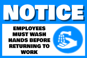 Wash Your Hands Workplace Bathroom Poster Template