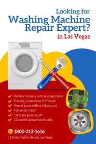 Washing Machine Repair Flyer Poster