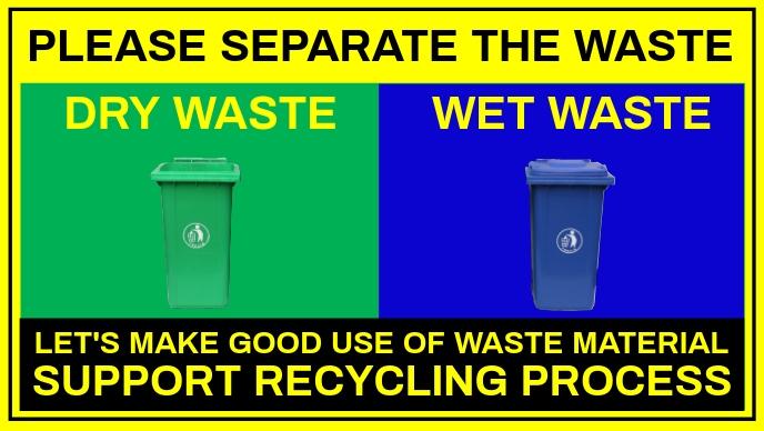 Waste Segregation Sign Template Facebook Cover Video (16:9)
