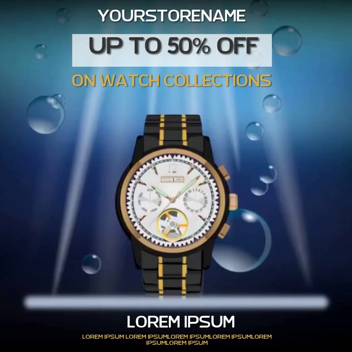 WATCH JEWELRY SALE AD SOCIAL MEDIA TEMPLATE