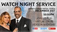 Watch Night Church Service Tampilan Digital (16:9) template