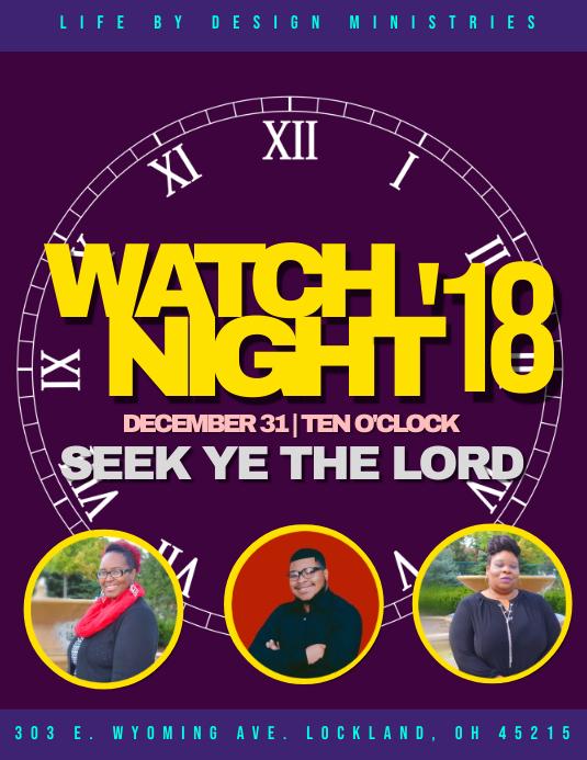 Watch Night Service Flyer