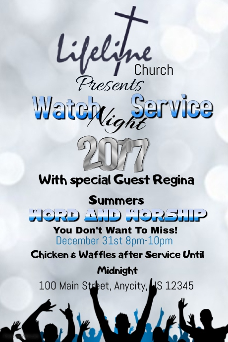 watch night service template