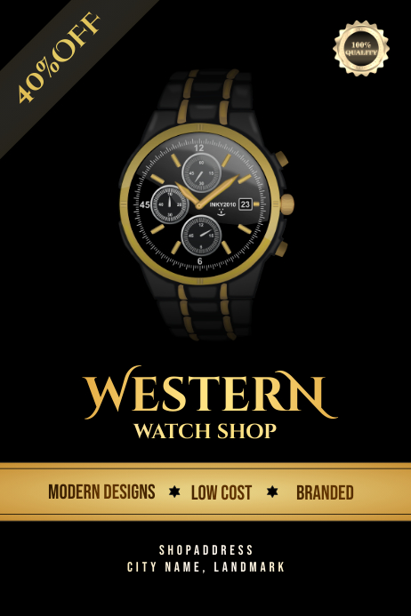 Watch shop Poster