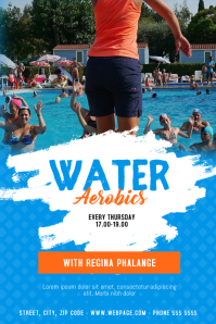 Water Aerobics Classes Flyer Template