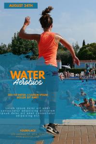 Water aerobics flyer template