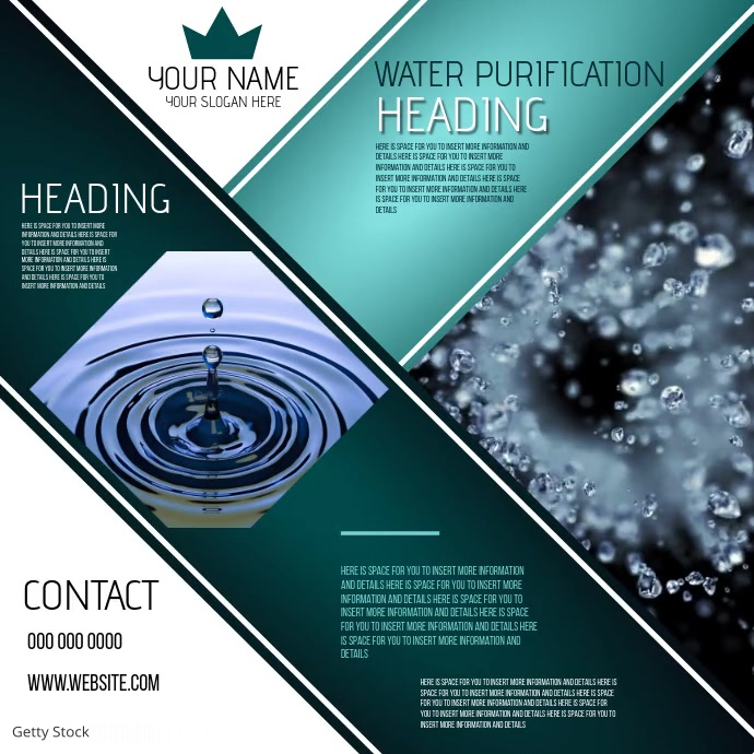 WATER BUSINESS COMPANY CORPORATE EVENT AD Kwadrat (1:1) template