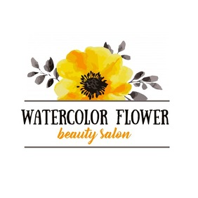 water color flower Logo template