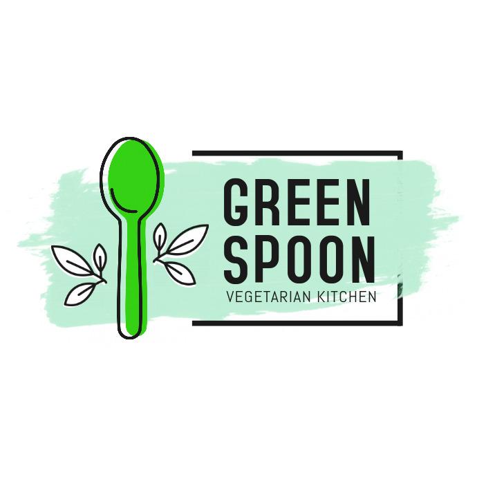 Water Color Themed Vegetarian Restaurant Logo