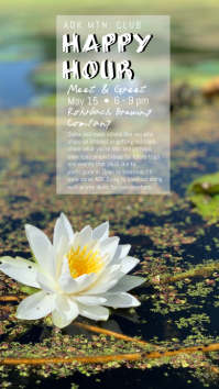 Water Lilly Happy Hour Indaba yaku-Instagram template