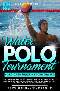 Water Polo Tournament Poster