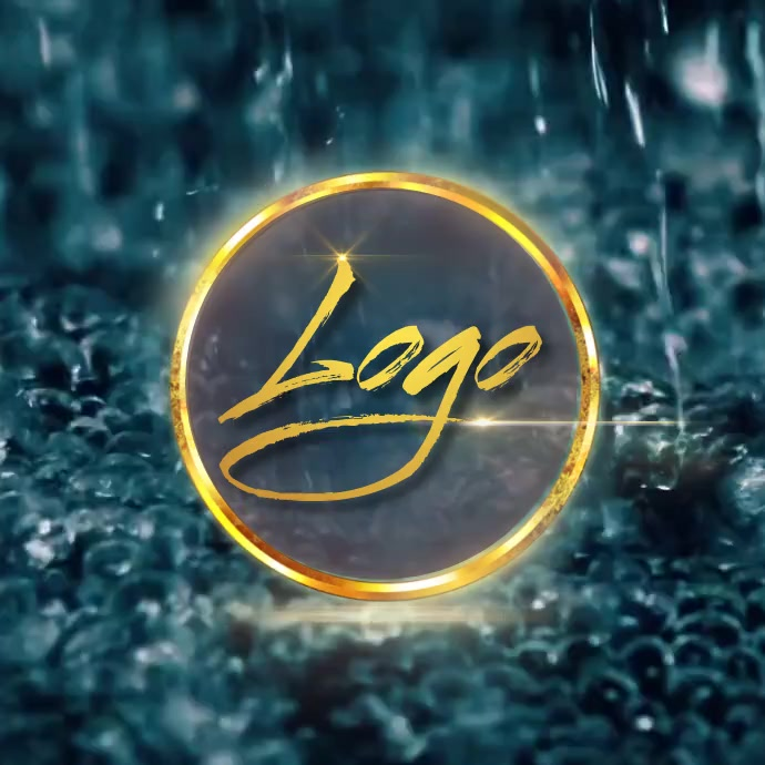 water professional logo design template