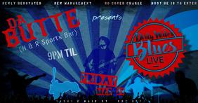 Retro Rock Music Guitar Vintage Bar Event Festival Night Blues