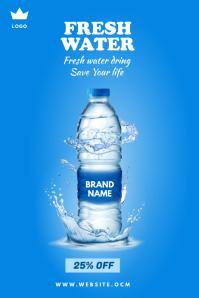 Water sale ad Spanduk 4' × 6' template