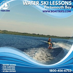 Water Skiing Lessons Instagram Template
