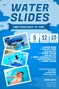 Water Slide Flyer Template