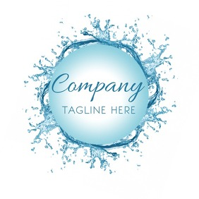 Water Splash Abstract Business Logo Template