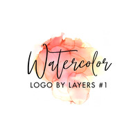 Watercolor Abstract Logo 1 template
