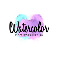 Watercolor Abstract Logo 7 template