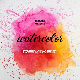 Watercolor CD Cover Art Template