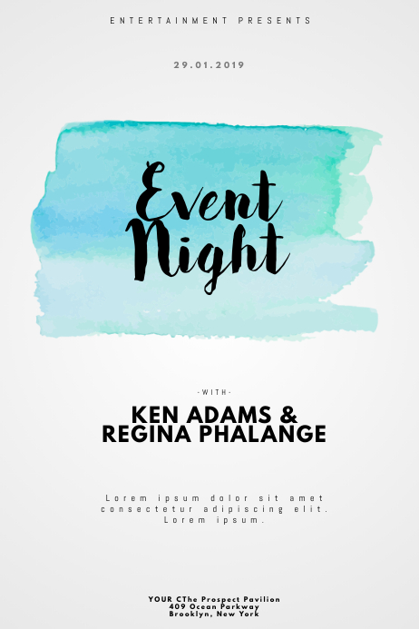 WaterColor Event Party Flyer Template