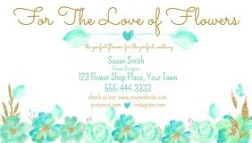 Watercolor Floral Pastel Business Card Tarjeta de Presentación template