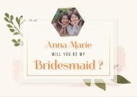 Watercolor Flowers Bridesmaid Invitation Post
