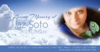 Watercolor Funeral Social Media Ad Video รูปภาพที่แบ่งปันบน Facebook template