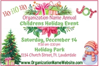 Watercolor Holiday Event 3'x6' Banner template