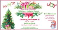 Watercolor Holiday Event Facebook Post delt Facebook-billede template