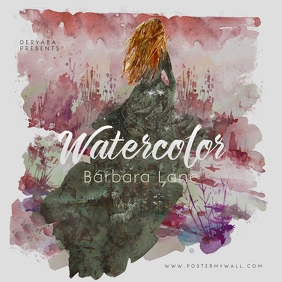Watercolor Music Music Cover Art Template