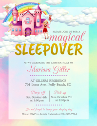 Watercolor Themed Magical Birthday Flyer