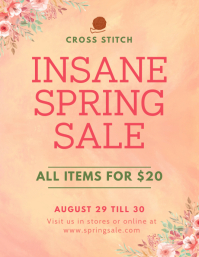 Watercolor Themed Spring Sale Flyer