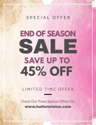 Watercolor Themed Super Sale Flyer