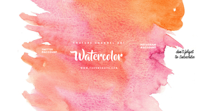 Watercolor Youtube Channel Art Banner