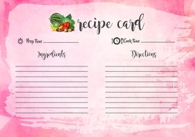 Watercolour Recipe Card