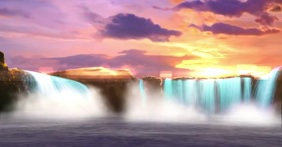 WATERFALL SUNSET BREATHTAKING VIDEO TEMPLATE Imagen Compartida en Facebook