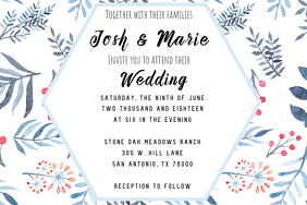 Cool Waters Wedding Invitation Template Poster