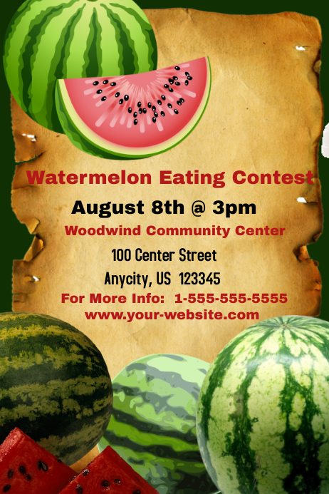 watermelon eating contest template
