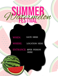 Watermelon Festival Flyer Template