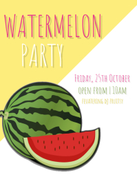 Watermelon Party Flyer Template