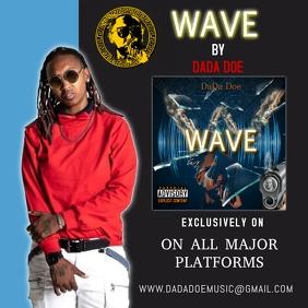 wave Sampul Album template
