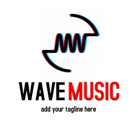 wave music logo icon