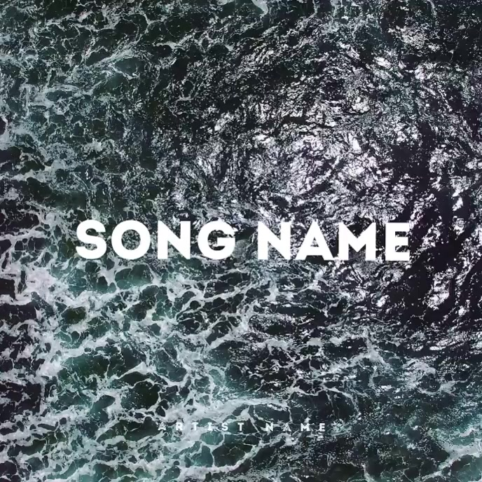 WAVES Mixtape / EP / Album Cover Art Template Albumcover