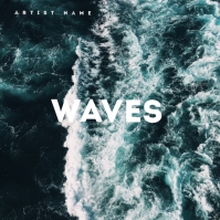 WAVES Mixtape / EP / Album Cover Art Template