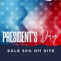 Wavy President's Day Sale Modern Video Message Instagram template
